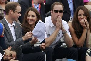 Ksi�na Kate i Ksi��� William na trybunach Olimpiady w Londynie! Jacy oni s� w sobie zakochani!