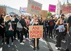 Czarny protest kobiet w sprawie projektu ustawy o aborcji