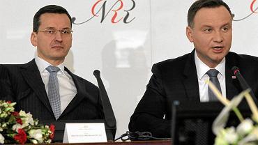 Mateusz Morawiecki i Andrzej Duda
