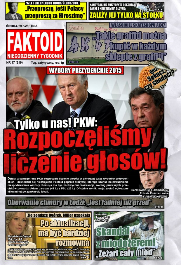 Faktoid: PKW zaczęła już liczyć głosy - Tylko w Faktoidzie: PKW zaczęła już liczyć głosy! - Gazeta.pl