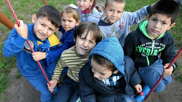 Mali uchodźcy w szkole w Berezówce