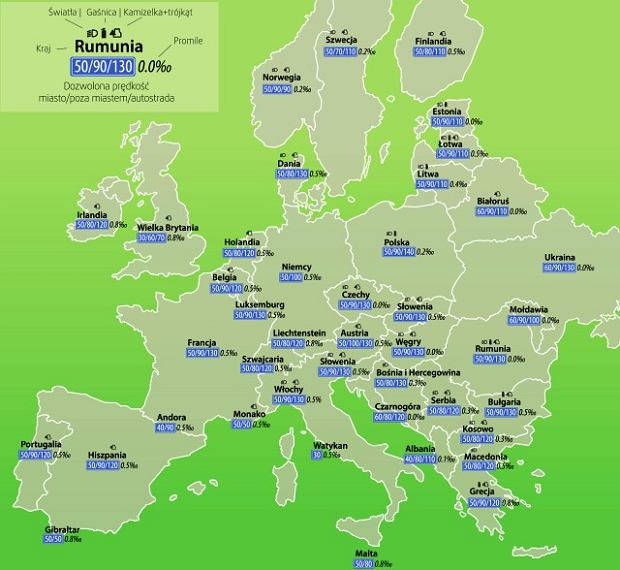 Przepisy drogowe w krajach UE - jak unikn�� mandatu