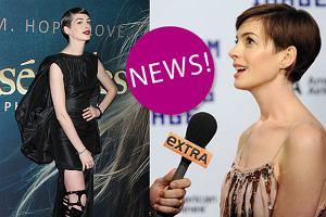 """Anne Hathaway pojawi�a si� na premierze """"N�dznik�w"""" bez bielizny. Jak komentuje zaistnia�� """"wpadk�""""? [WIDEO + ZDJ�CIA]"""