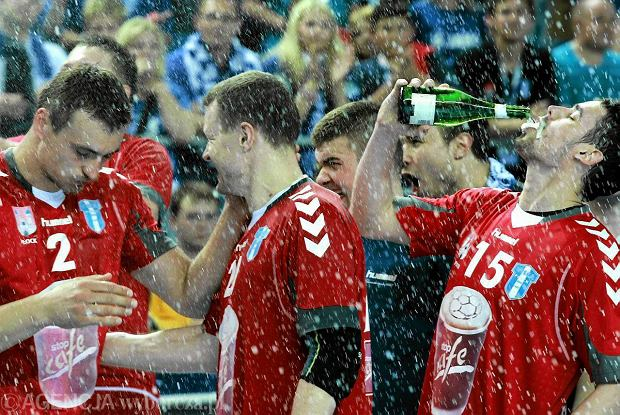 Rado�� po zdobyciu przez Orlen Wis�� mistrzostwa Polski w 2011 r.