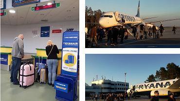 Pierwszy lot do Warszawy samolotem Ryanair
