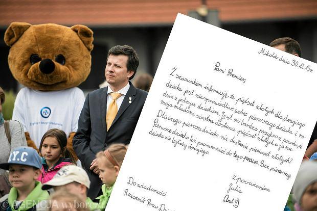 Marek Michalak i list od 9-letniej Julii