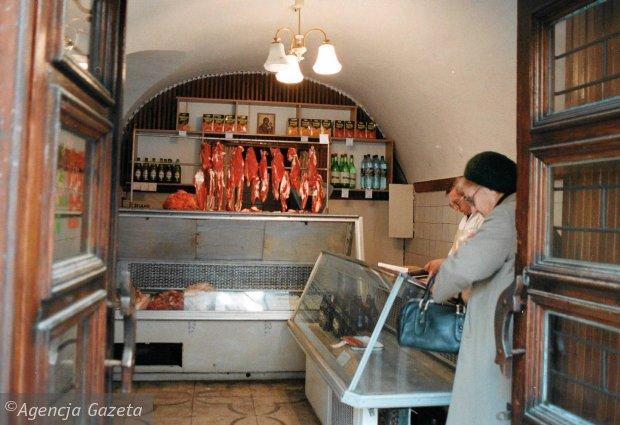 Ukraina, sklep spożywczy we Lwowie