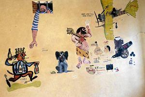 Muzeum Warszawy. Polichromie z XVII w., malunki grafików z wydawnictwa Iskry