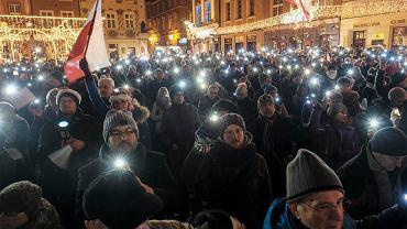 14.12.2017, Poznań, 'Łańcuch Światła' na Starym Rynku.