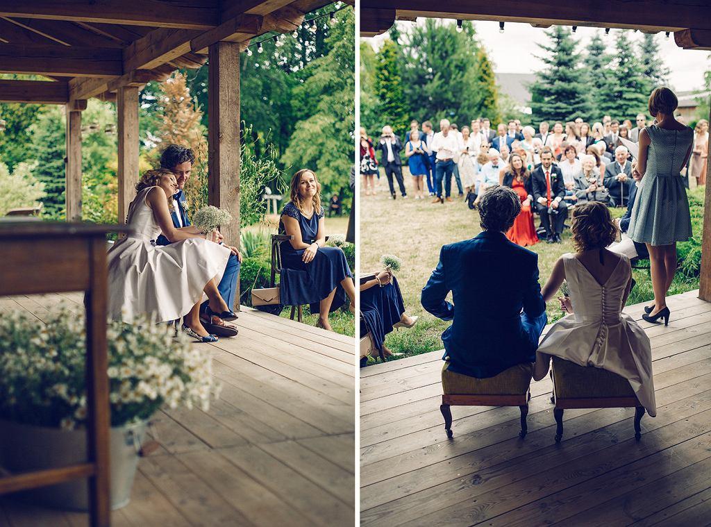 Goście po ślubie komentowali m.in. to, jak bardzo było widać wkład Agi i Seana w uroczystość (fot. Piotr Hołub)