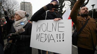 Protest w obronie wolnych mediów