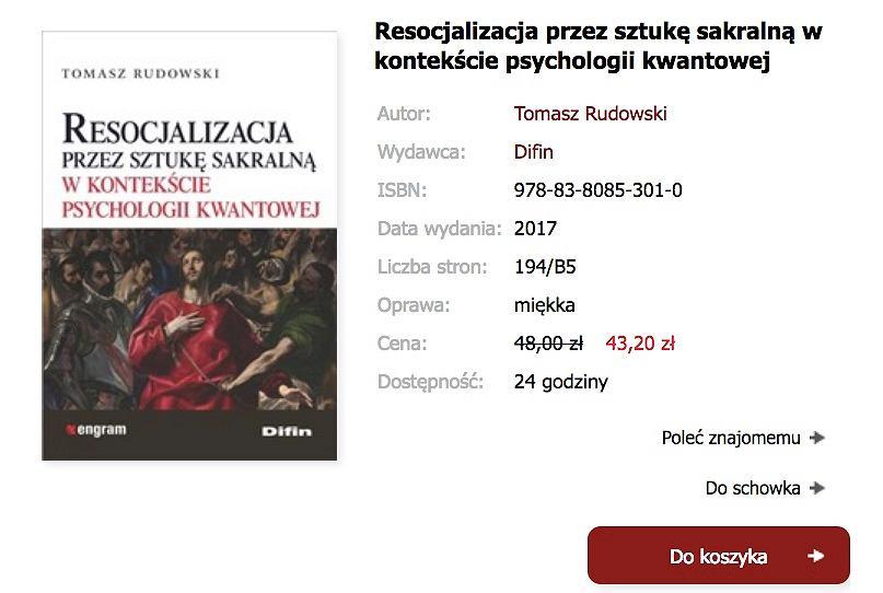 Książkaę prof. Rudowskiego można kupić na stronie internetowej wyd. Difin