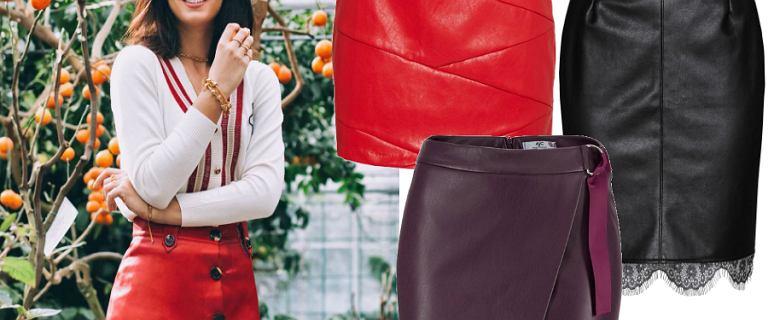 Skórzane spódnice to świetny wybór na jesień. Odważny kolor w stylu Halejcio podkręci każdą stylizację!