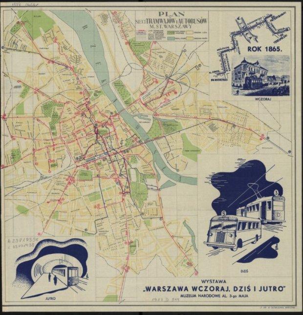 Mapa Warszawy