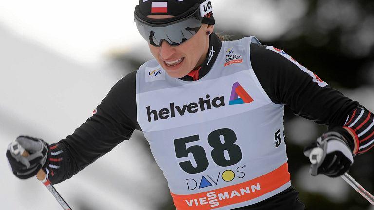 Justyna Kowalczyk podczas biegu Pucharu Świata w Davos