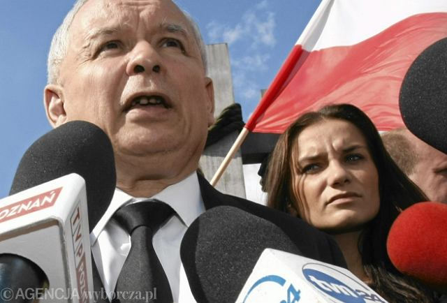 Jarosław Kaczyński i Ilona Klejowska