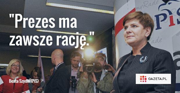 Kandydatka PiS na premiera Beata Szyd�o