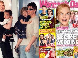 Nicole Kidman i Tom Cruise z dzie�mi / Ok�adka Woman's Day
