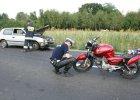 33-letni motorowerzysta zmarł po wypadku [ZDJĘCIE]