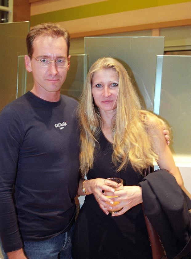 Piotr Kraśko z żoną Dominiką