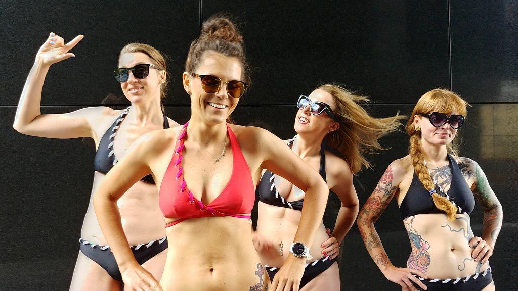 Od lewej: Ola, Malwina, Sylwia i Kamila w kostiumach Mission Swim