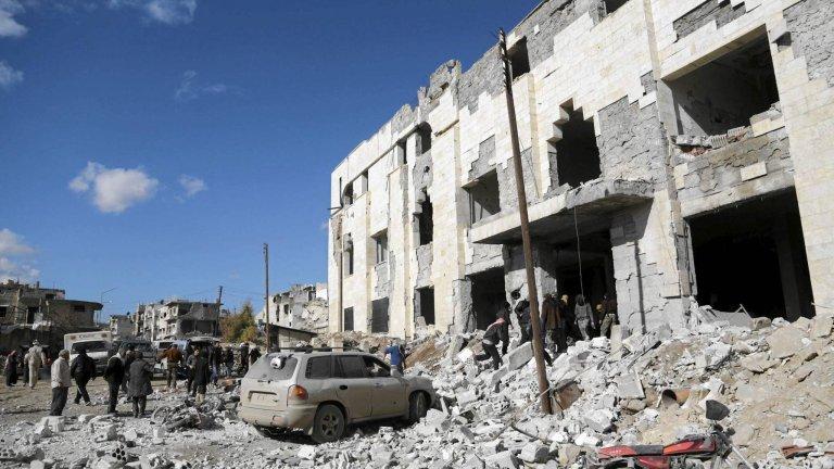 Ofiary jednego z rosyjskich bombardowań w Syrii