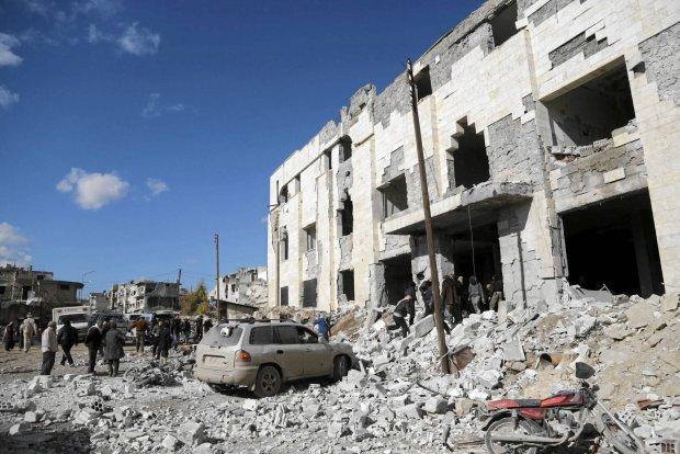 Ofiary jednego z rosyjskich bombardowa� w Syrii