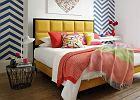 Sypialnia w kolorach lata - tapicerowane łóżka