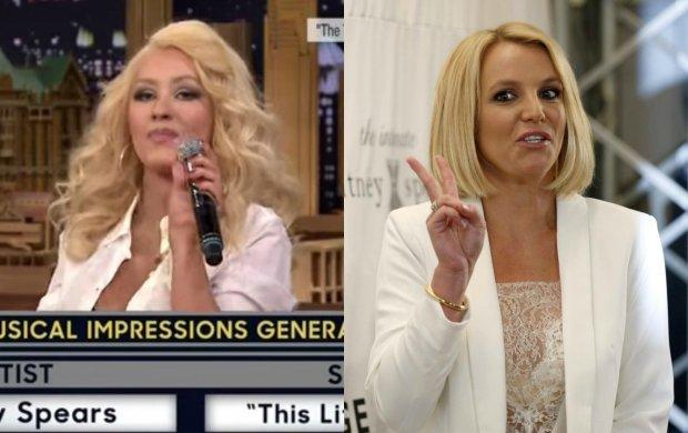 Christina Aguilera w jednym z programów rozrywkowych musiała naśladować sposób śpiewania znanych wokalistek.