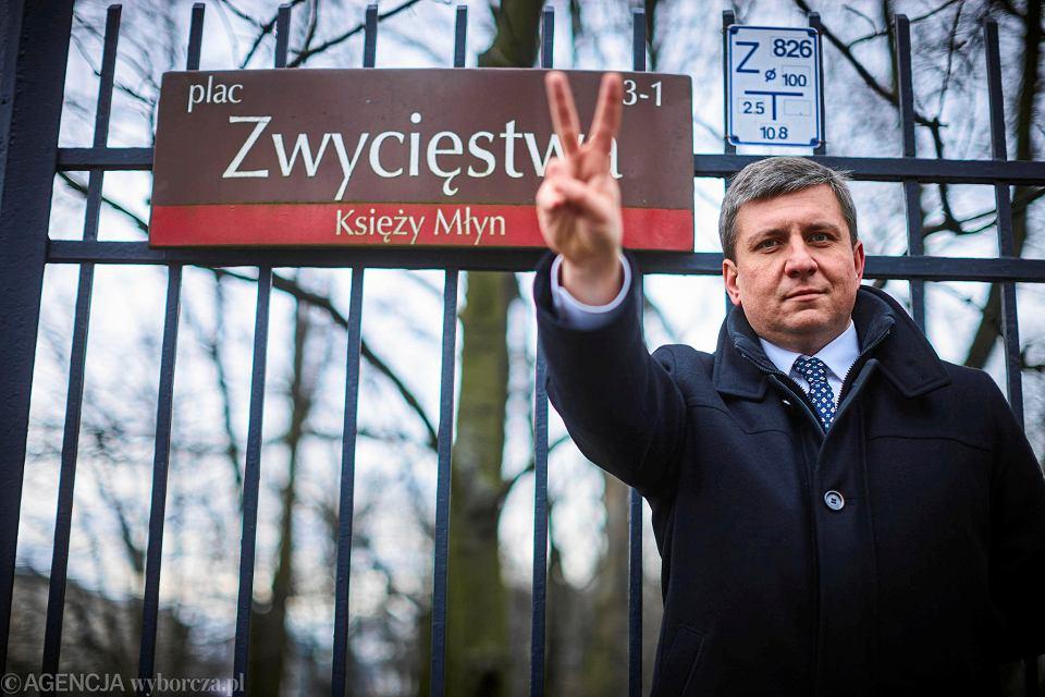 Tomasz Kacprzak, przewodniczący rady miejskiej, radny PO.