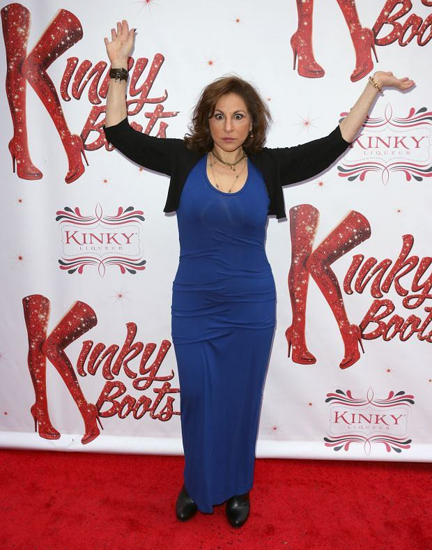 April 3, 2013: Kathy Najimy attending the Broadway Opening Night Performance for 'Kinky Boots' at the Al Hirschfeld Theatre in New York City. Mandatory Credit: Walter McBride/INFphoto.com Ref.: infusny-236|sp|