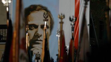 Obchody rocznicy śmierci księdza Jerzego Popiełuszki. Warszawa, 19 kwietnia 2004