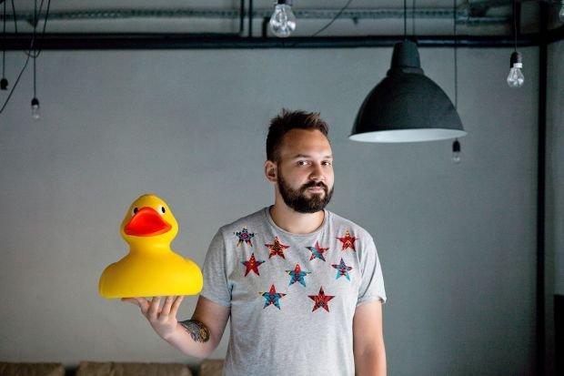 Marek Przystaś z Duckie Deck organizator imprezy