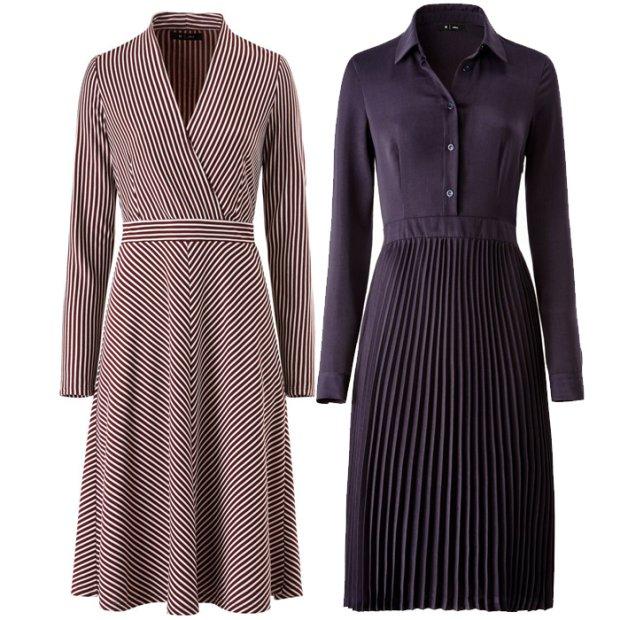 Sukienki do pracy: 3 modne stylizacje z sukienk� midi