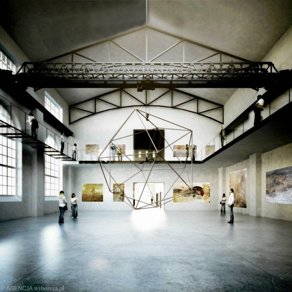 Wizualizacje projektu przebudowy starej elektrowni Galerii Arsenał/ Pracownia WXCA