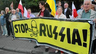 Pikieta pod ambasadą rosyjską
