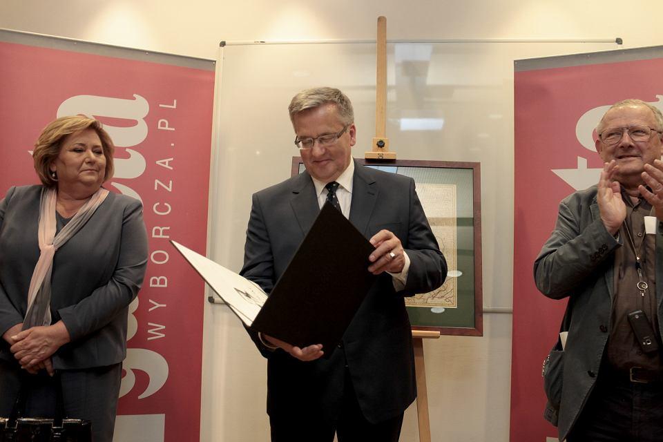 Tytuł człowieka 'Gazety Wyborczej' 2014 roku otrzymał prezydent Bronisław Komorowski.