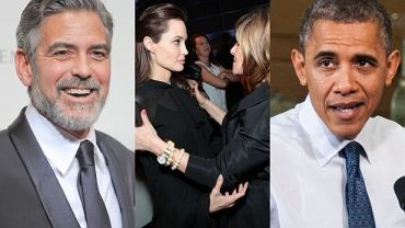 George Clooney, Angelina Jolie i Amy Pascal, Barack Obama