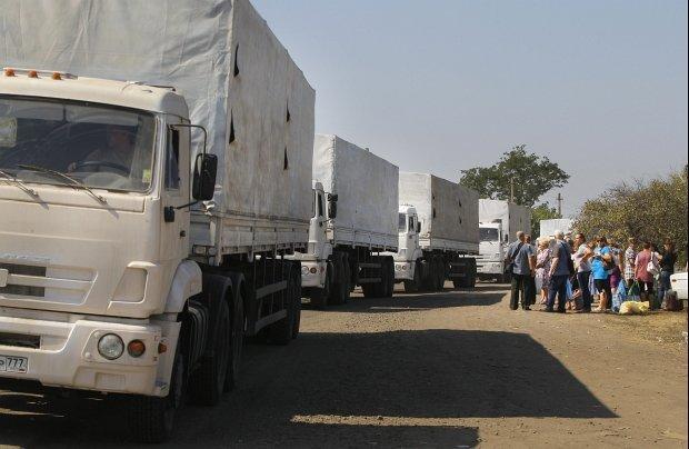Pierwszy rosyjski konw�j z pomoc� humanitarn�. Drugi ju� jedzie w kierunku Ukrainy