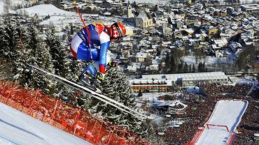 Kto wygrywa zjazd w Kitzbühel, ten jest królem nart przez cały następny sezon. Na zdjęciu Szwajcar Didier Cuche, który triumfował w Kitz aż pięć razy