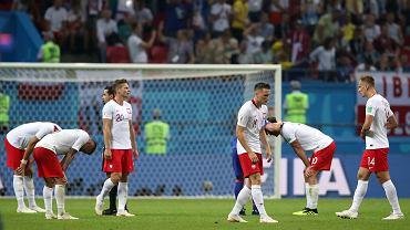 Polska reprezentacja po przegranym meczu