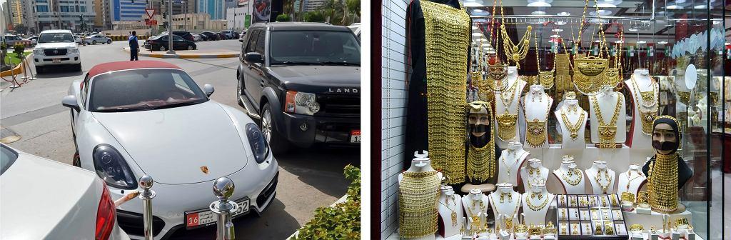 Jeśli mężczyzna kupi auto jednej z żon, pozostałym musi podarować samochody tej samej klasy. Atrybutem emirackiej żony jest też szczerozłota biżuteria (fot. Aleksandra Chrobak)