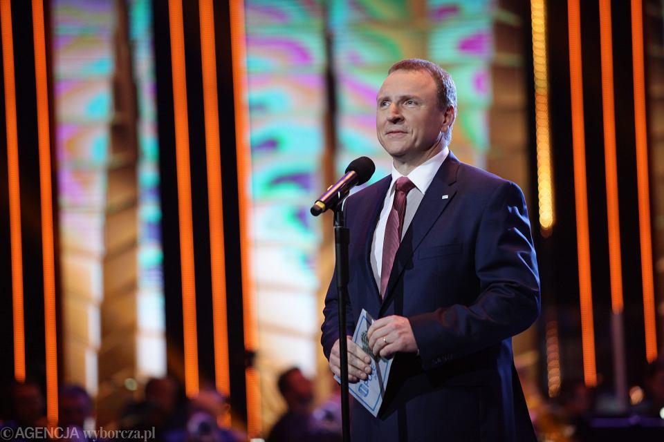 Jacek Kurski na festiwalu w Opolu
