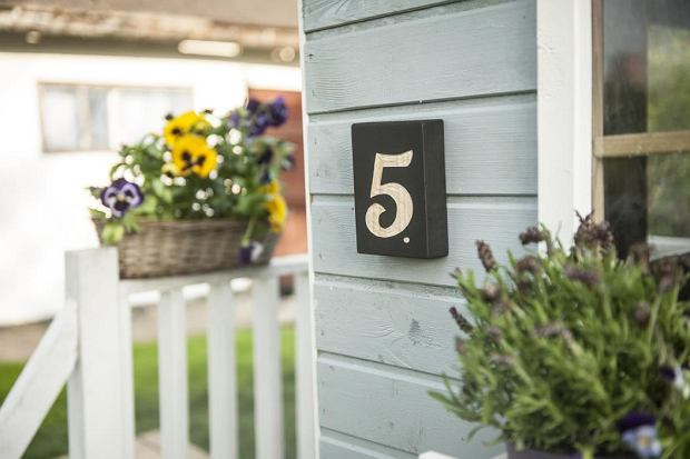 Tabliczka z numerem domu - DIY