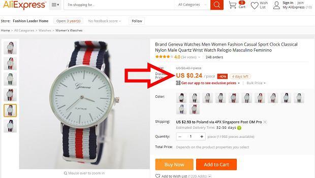 Zegarek za 85 groszy