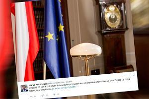 Kuchciński świętuje 13. rocznicę w UE uroczystym wpisem. Ale zaraz, zaraz, gdzie jest marszałek?