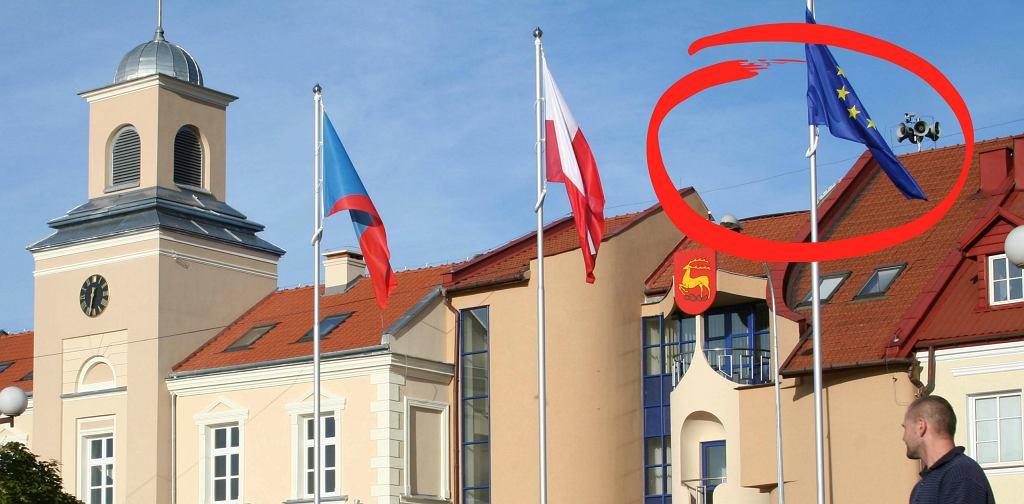 Flagi w Łomży