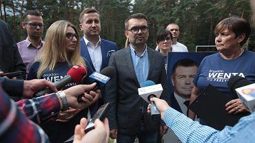 Kielce, 6 września 2018. Konferencja prasowa Projektu Świętokrzyskie Bogdana Wenty. Marcin Różycki