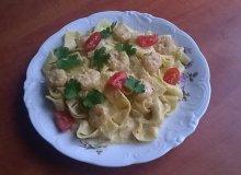 Pappardelle z krewetkami w kremowym a'la pesto - ugotuj
