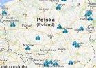 Mapa imprez Weekendu Polska na Rowery 2014